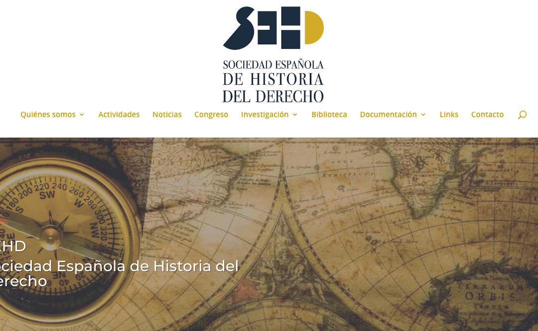 NUEVA WEB DE LA SOCIEDAD ESPAÑOLA DE HISTORIA DEL DERECHO