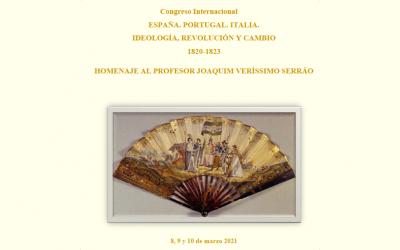 Congreso Internacional. España. Portugal. Italia. Ideología, revolución y cambio. 1820-1823.