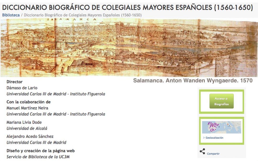 Diccionario biográfico de Colegiales Mayores Españoles (1560-1650)